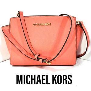 Michael Kors Coral Selma Mini Messenger Bag